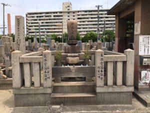 長瀬墓地(東大阪市)の行基さん