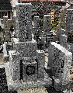 渡場墓地でお墓をリフォームさせていただきました(亀井様)