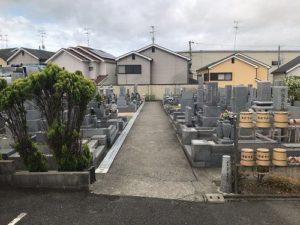 和泉市のいずみ浄苑の墓地です