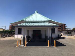 東大阪市楠根墓地の斎場