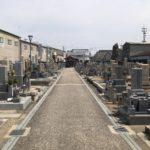 若江南墓地の風景