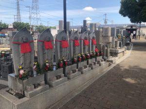 加納川田墓地の六地蔵