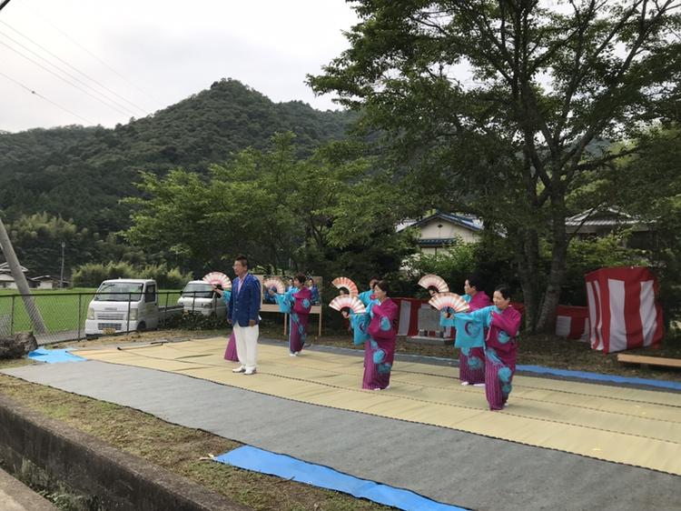 神崎郡 岩本安司さん記念碑除幕式