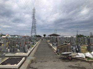 板原公園墓地の風景