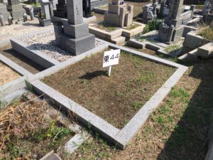 幸王子共同墓地の旧墓地空き