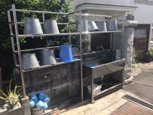 稲田墓地の水場