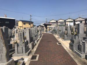 稲田墓地の風景