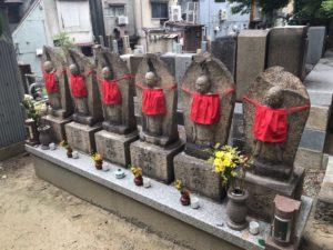 蒲生墓地(大阪市都島区)の六地蔵