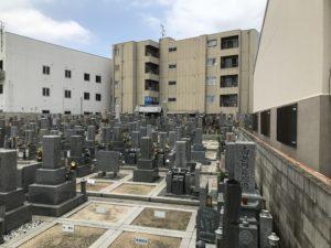 水走墓地(東大阪)の風景