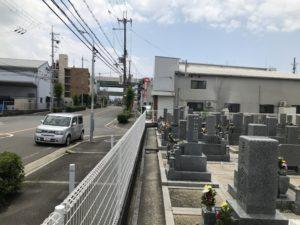 水走墓地(東大阪)の車停める位置