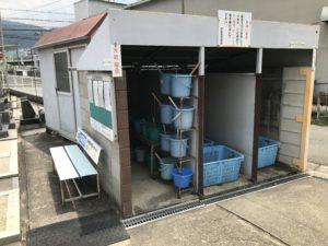 水走墓地(東大阪)のバケツ置き場