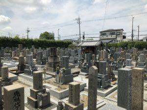 松原墓地の風景