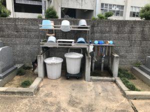 吉田墓地(東大阪市)の水場