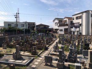 松屋共同墓地(堺市堺区)の風景
