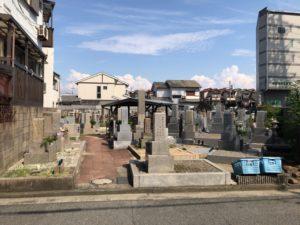 松屋共同墓地(堺市堺区)の入り口
