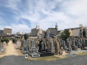 大阪市設北霊園の風景