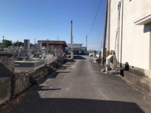 御所市営墓地(御所市)の入り口