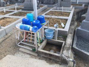 森河内本郷墓地(東大阪市)の水場