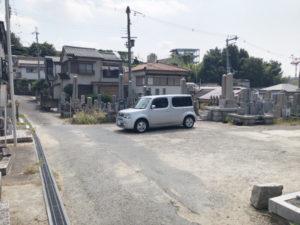禁野・中宮共同墓地(枚方市)の駐車場