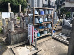 禁野・中宮共同墓地(枚方市)の水場
