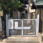東橋波墓地(守口市)の入り口