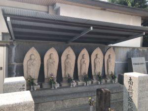 東橋波墓地(守口市)の六地蔵