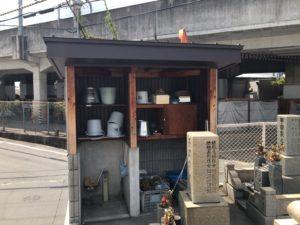 森河内新地墓地(東大阪市)の水場