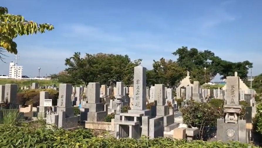 尼崎市弥生ケ丘墓園の様子1