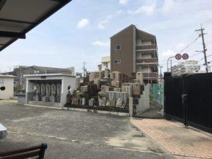 江口墓地(大阪市東淀川区)の六地蔵と無縁塚