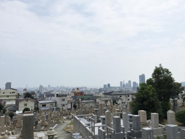 神戸市中央区 春日野墓地の風景