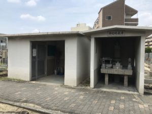 江口墓地(大阪市東淀川区)のお迎え地蔵