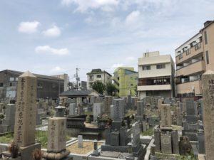江口墓地(大阪市東淀川区)の風景