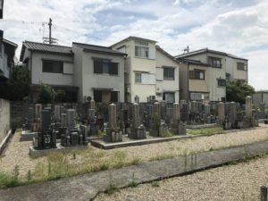 尊重寺共同墓地(高槻市)の風景