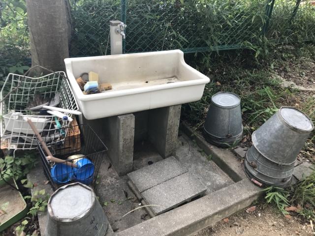 三条墓地(芦屋市)の水場