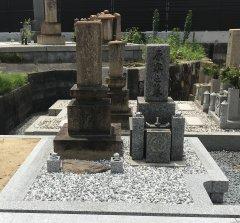 鹿塩村東蔵人村共有墓地でお墓の移転をさせていただきました(原様)