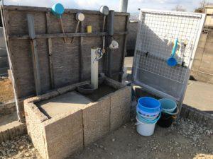 神立共同墓地(八尾市)の水場