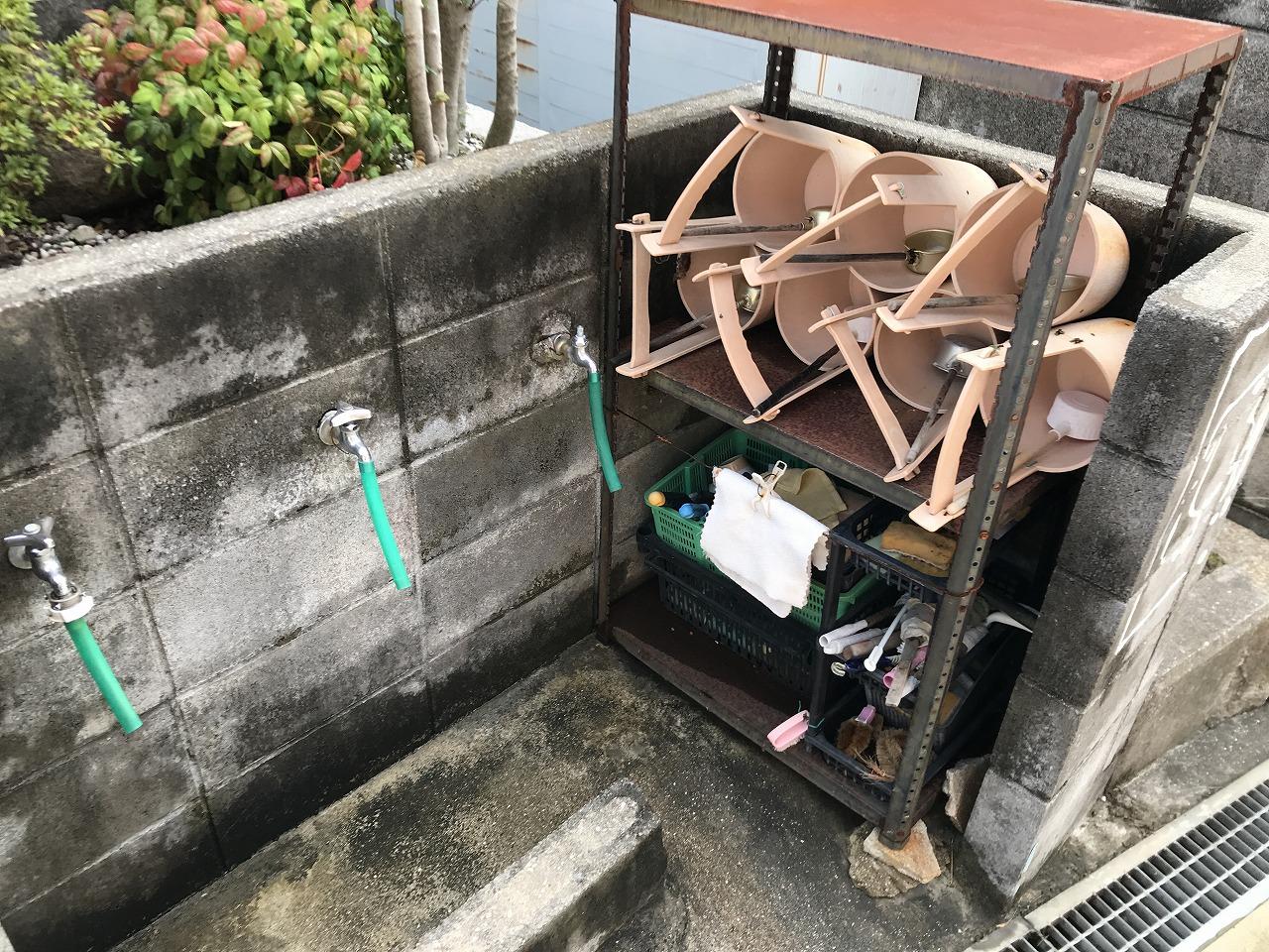 平野共同墓地(神戸市兵庫区)の水場
