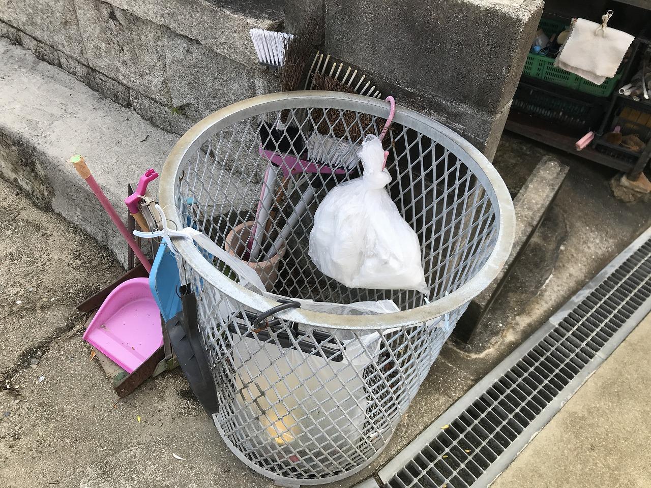 平野共同墓地(神戸市兵庫区)のゴミ箱
