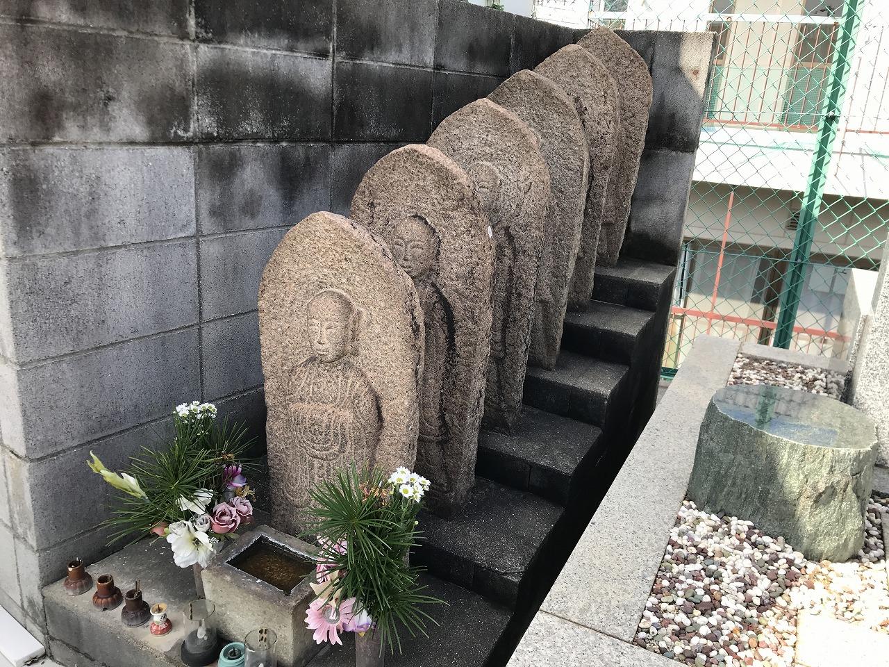 平野共同墓地(神戸市兵庫区)の六地蔵さん