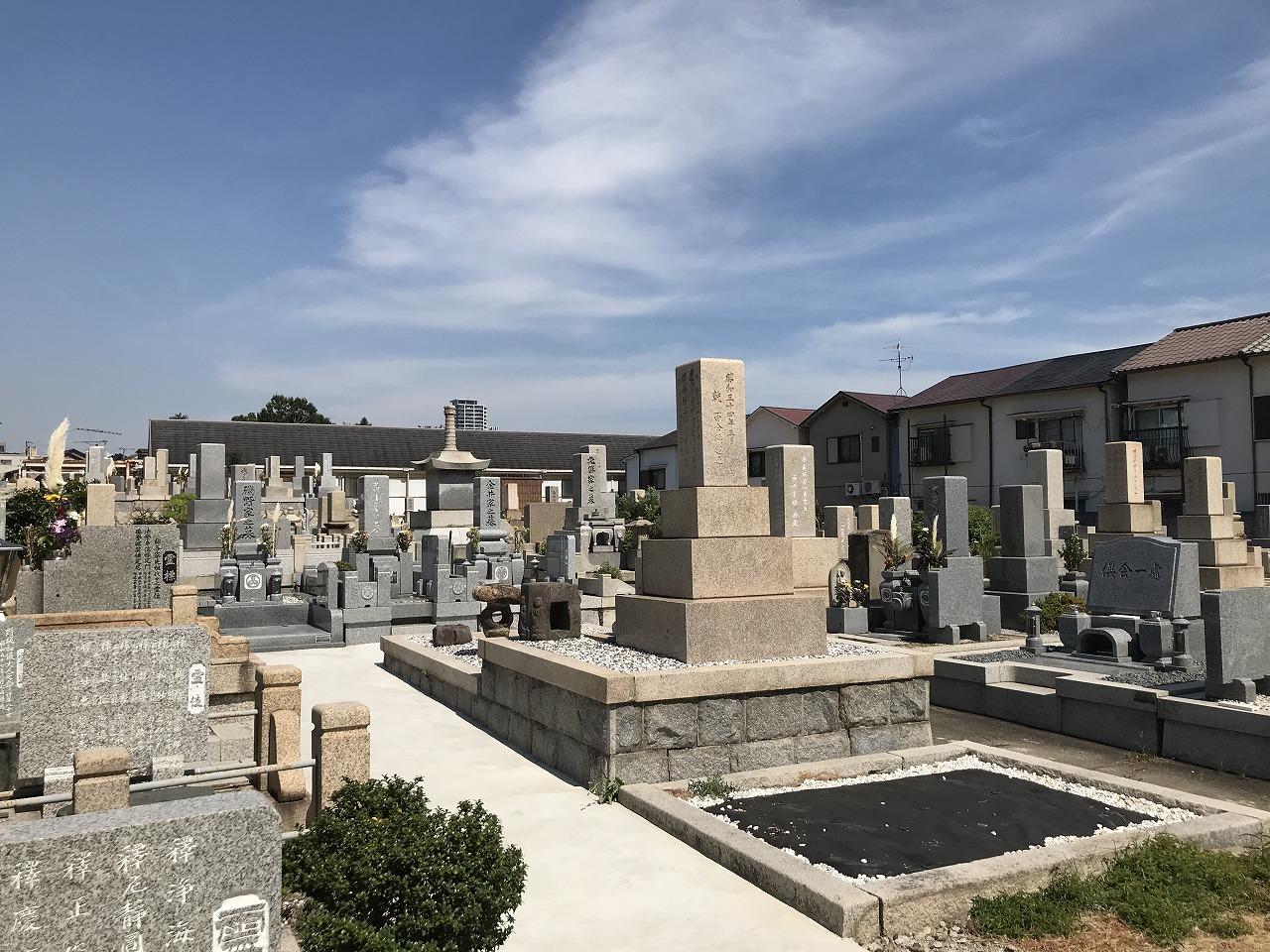 平野共同墓地(神戸市兵庫区)の様子