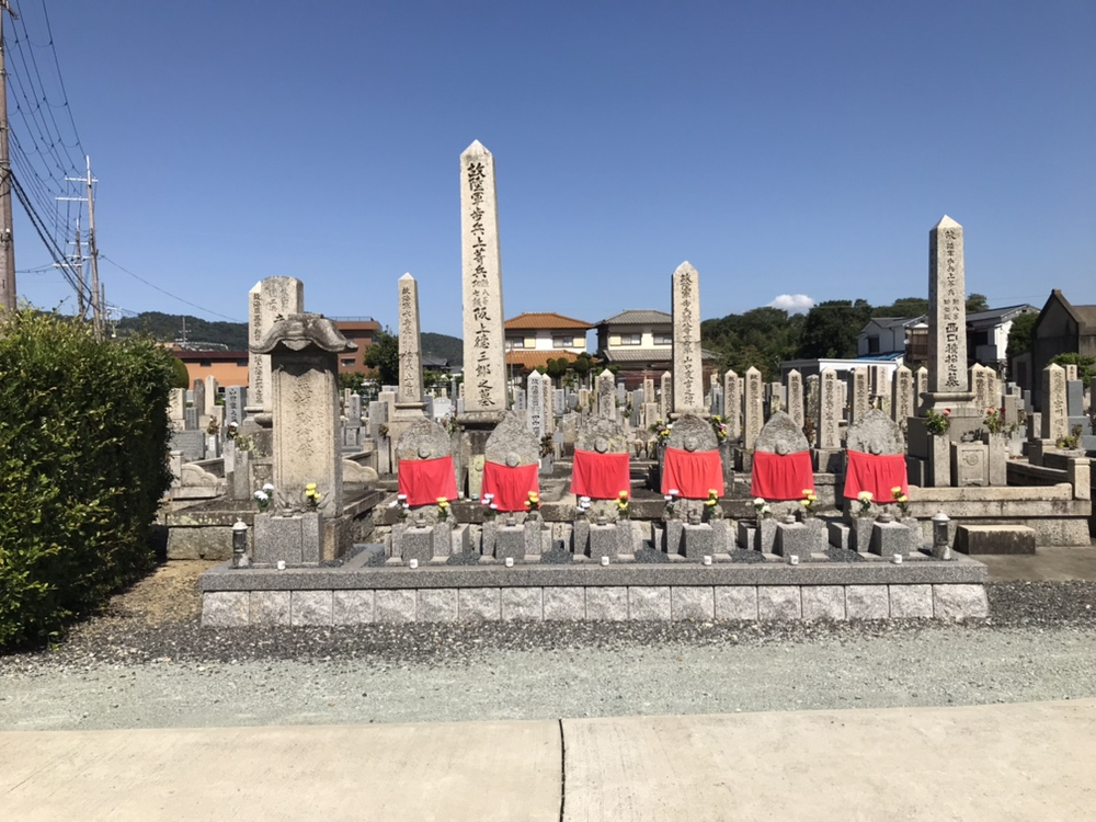 加茂共同墓地(川西市)の六地蔵さん