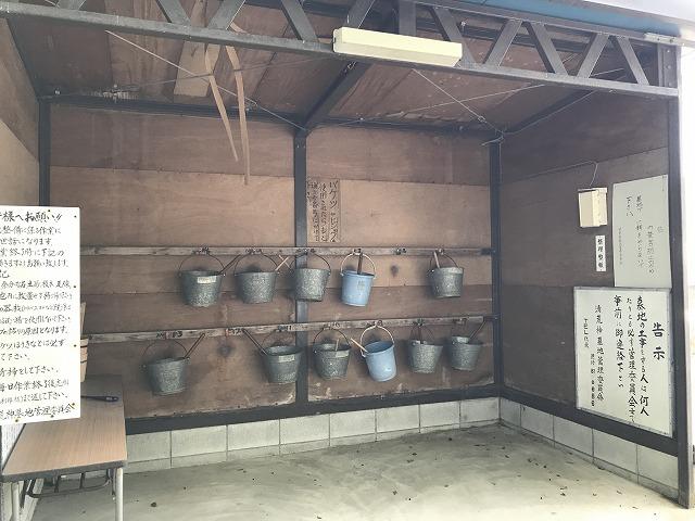 清荒神墓地(宝塚市)のバケツ置き場