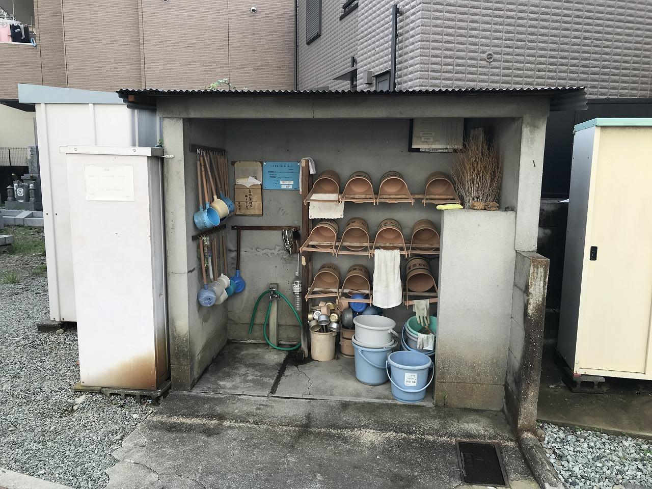 小花霊園(川西市)の用具置き場