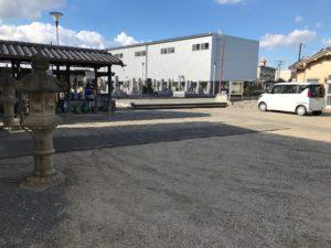 八尾市立安中墓地(八尾市)の駐車スペース