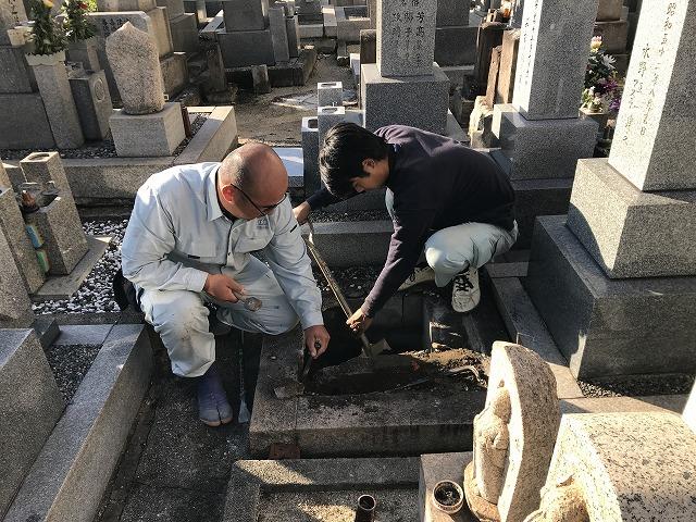 安立南霊園(大阪市住之江区)のお墓じまいのお立合いでした