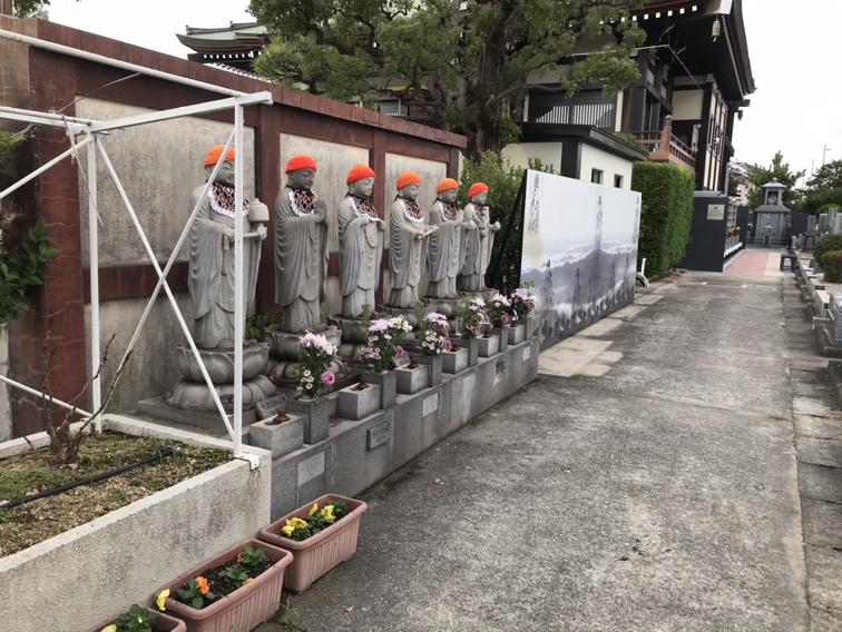 圓満寺土山霊苑(加古郡播磨町)の六地蔵さん