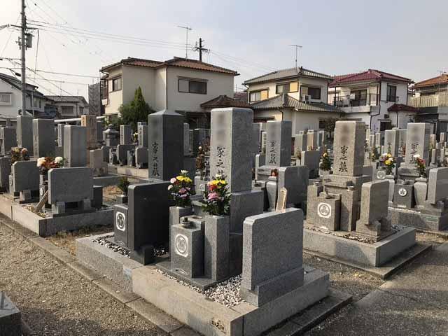 福里墓園(明石市)の墓地の様子