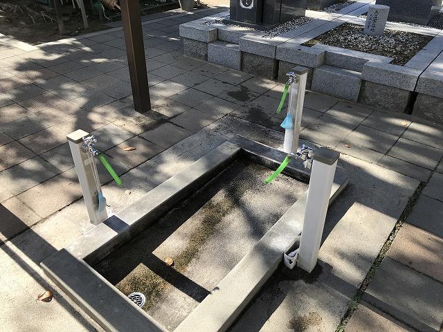 本庄墓地(神戸市東灘区)の水場