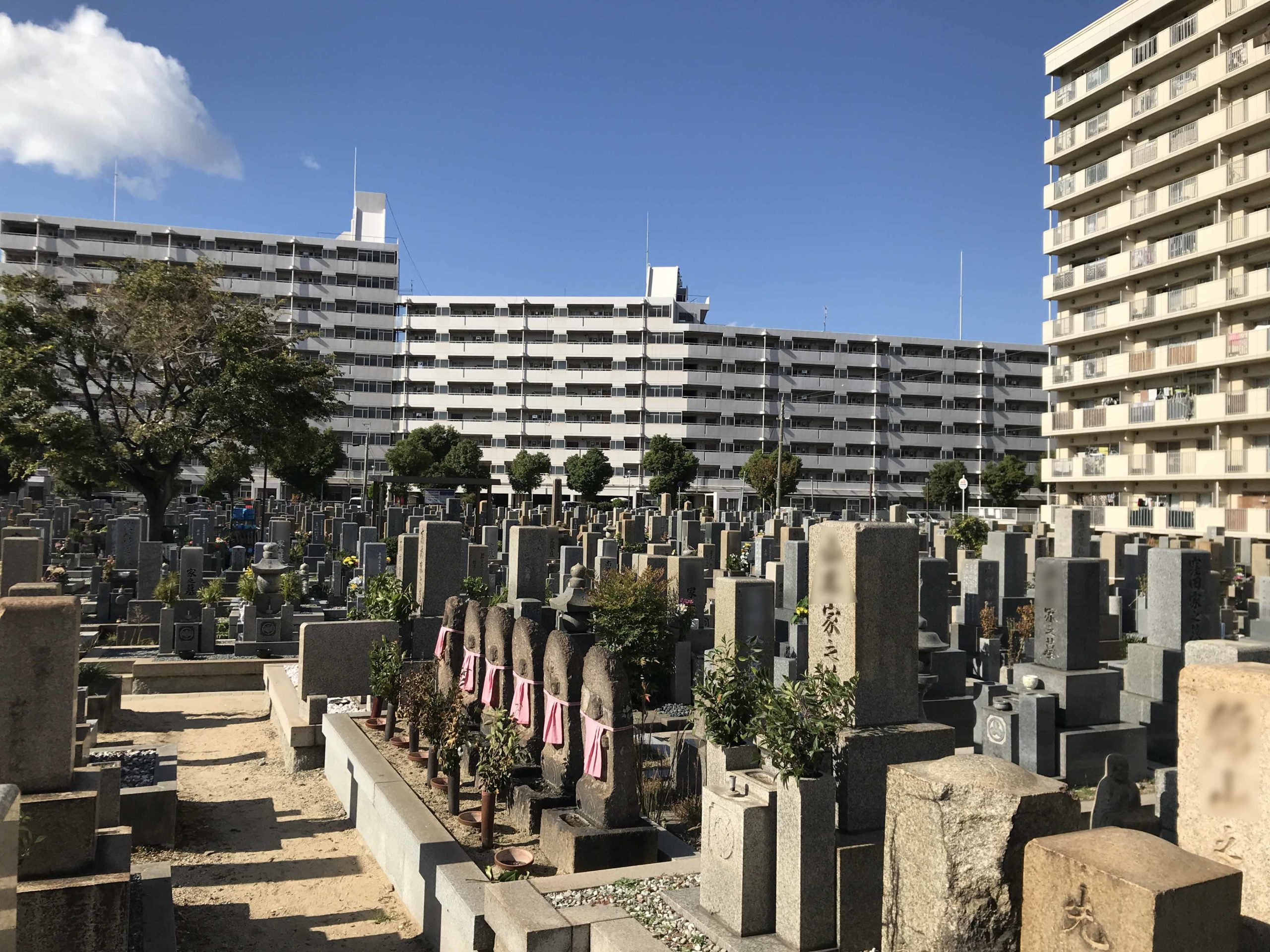 本庄墓地(神戸市東灘区)のお墓の様子