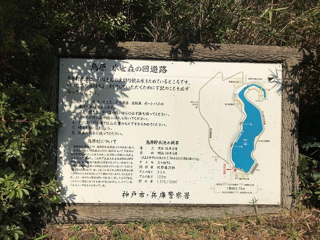 烏原霊園(神戸市兵庫区)あたりの看板